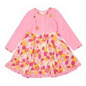 Dresses - New girls sz 6X Baby Lulu pink flower power dress